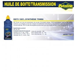 Huile rs75 75W80 , 100%...